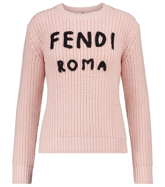 Fendi - Logo ribbed-knit wool sweater - mytheresa.com