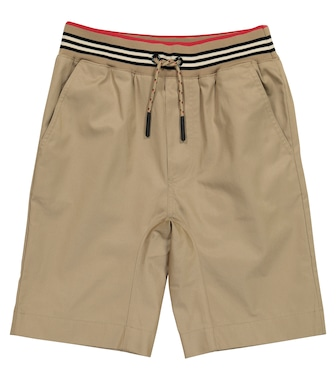 Burberry Kids - Icon Stripe cotton twill shorts - mytheresa.com