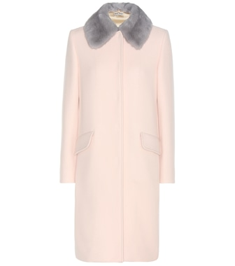 Miu Miu - Mink fur-trimmed virgin wool and angora coat - mytheresa.com