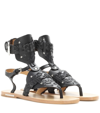 Isabel Marant - Étoile Jalys leather sandals - mytheresa.com