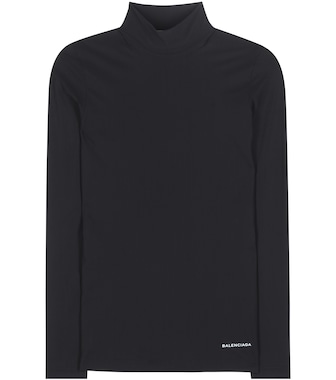 Balenciaga - Stretch turtleneck top - mytheresa.com