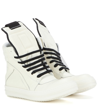 Rick Owens - Geobasket leather high-top sneakers - mytheresa.com