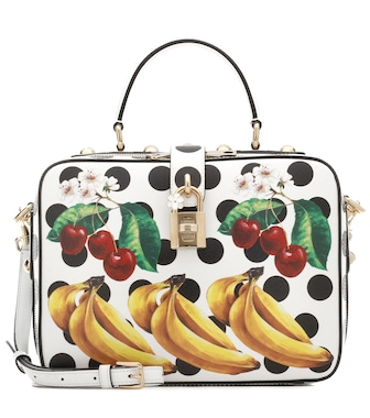 Dolce & Gabbana - Dolce Soft printed leather shoulder bag - mytheresa.com