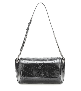 Saint Laurent - Niki crinkled-leather belt bag - mytheresa.com