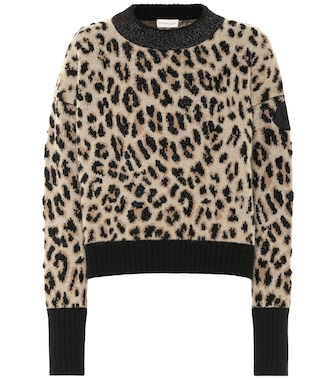 Moncler - Leopard wool and cashmere sweater - mytheresa.com
