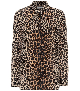 Saint Laurent - Leopard-print silk blouse - mytheresa.com