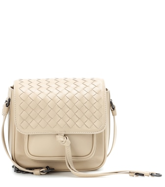 Bottega Veneta - Intrecciato leather crossbody bag - mytheresa.com