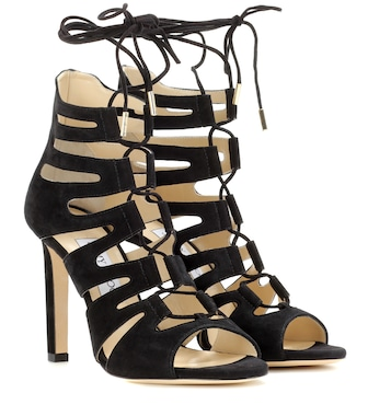 Jimmy Choo - Hitch 100 suede sandals - mytheresa.com