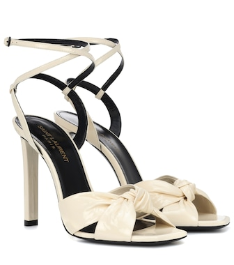 Saint Laurent - Amy patent leather sandals - mytheresa.com