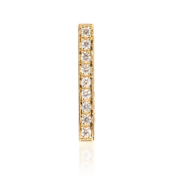 Maria Tash - Square Diamond Pavé Bar 14kt gold single earring with diamonds - mytheresa.com