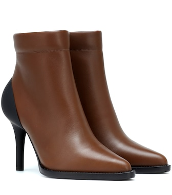 Chloé - Tracey leather ankle boots - mytheresa.com