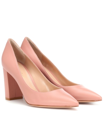 Gianvito Rossi - Piper 85 leather pumps - mytheresa.com