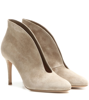 Gianvito Rossi - Exclusive to mytheresa.com – Vamp 85 suede ankle boots - mytheresa.com