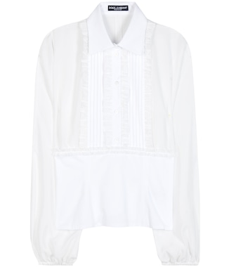 Dolce & Gabbana - Silk and cotton blouse - mytheresa.com