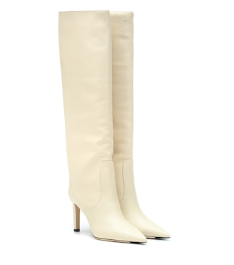 Jimmy Choo - Mavis 85 leather boots - mytheresa.com