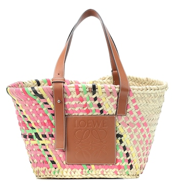 Loewe - Exclusive to Mytheresa – leather-trimmed basket tote - mytheresa.com