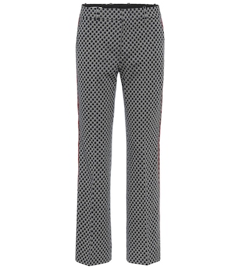 Gucci - Cotton-jacquard straight pants - mytheresa.com