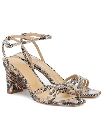 Aeydē - Annabella embossed leather sandals - mytheresa.com