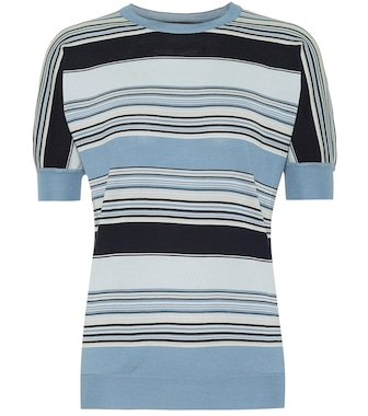 Loro Piana - Tangery striped silk and cotton knit top - mytheresa.com