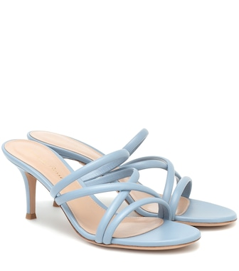 Gianvito Rossi - 70 leather sandals - mytheresa.com