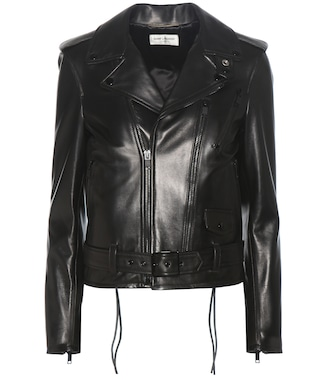 Saint Laurent - Signature L17 leather biker jacket - mytheresa.com
