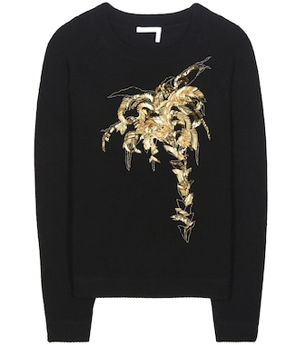 Chloé - Embellished wool and cashmere sweater - mytheresa.com