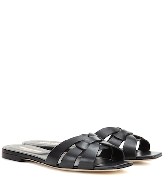 Saint Laurent - Nu Pieds 05 leather sandals - mytheresa.com