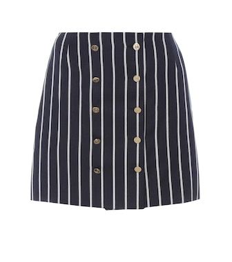 Thom Browne - Striped wool and cotton miniskirt - mytheresa.com