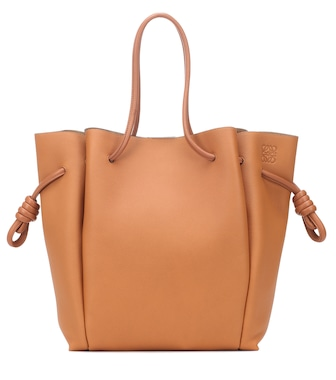Loewe - Flamenco Knot Small leather tote - mytheresa.com