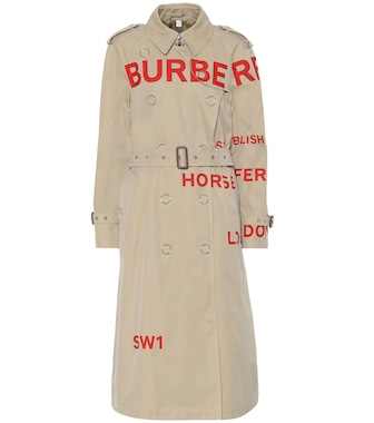 Burberry - Printed cotton gabardine trench coat - mytheresa.com