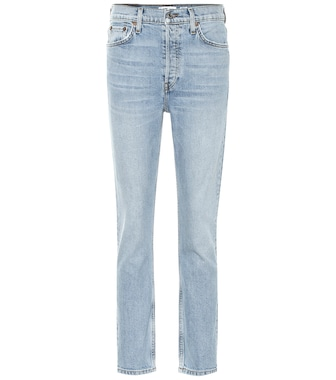 Re/Done - High-Rise Ankle Crop straight jeans - mytheresa.com
