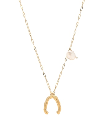 Alighieri - The Flashback River 24kt gold-plated necklace with pearls - mytheresa.com