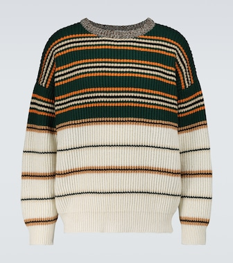 LOEWE - Striped crewneck sweater - mytheresa.com