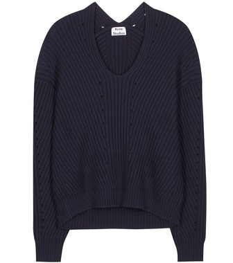 Acne Studios - Bernice cotton-blend knitted sweater - mytheresa.com