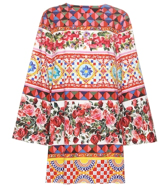Dolce & Gabbana - Printed cotton dress - mytheresa.com