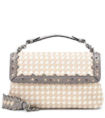 Bottega Veneta - Olimpia Checker leather shoulder bag - mytheresa.com