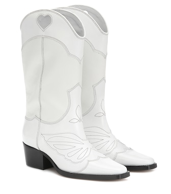 Ganni - Exclusive to Mytheresa – leather cowboy boots - mytheresa.com