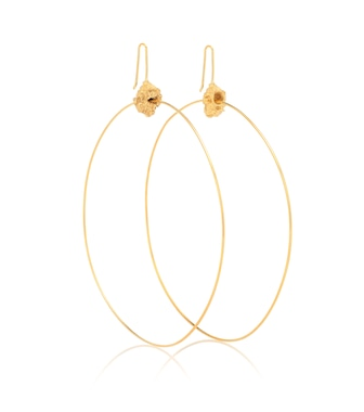 Elhanati - Roxanne 24kt gold-plated hoop earrings - mytheresa.com