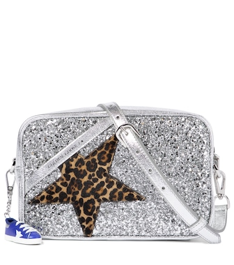 Golden Goose - Star Glitter leather shoulder bag - mytheresa.com