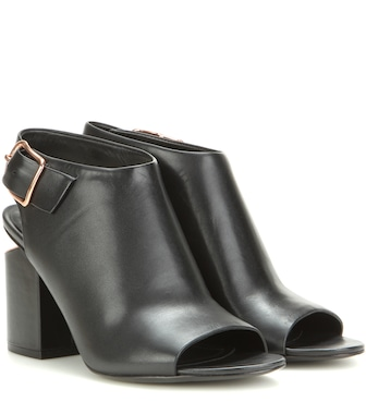 Alexander Wang - Nadia leather peep-toe ankle boots - mytheresa.com