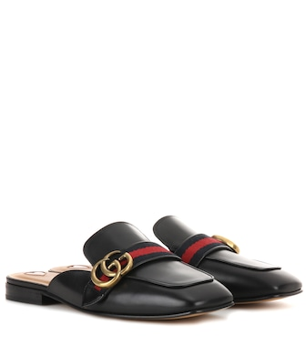 Gucci - Peyton leather slippers - mytheresa.com