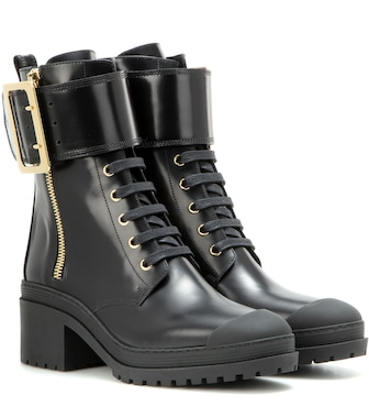 Burberry - Scarcroft leather boots - mytheresa.com
