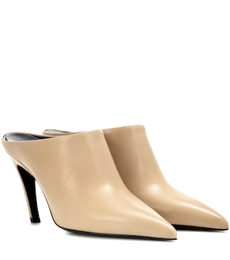 Balenciaga - Pointy Pump leather mules - mytheresa.com