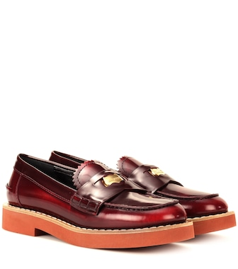 Miu Miu - Leather penny loafers - mytheresa.com