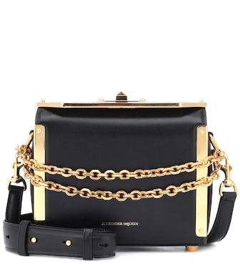 Alexander McQueen - Box 19 leather shoulder bag - mytheresa.com