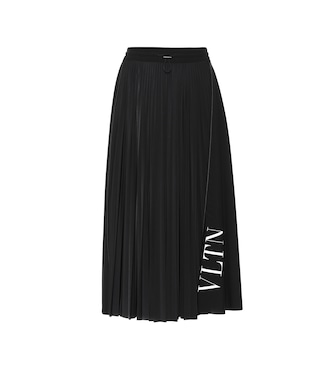Valentino - VLTN pleated jersey skirt - mytheresa.com