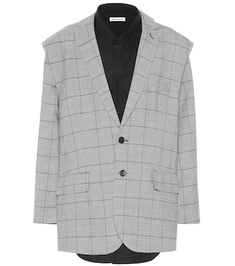 Balenciaga - Wool-blend jacket and shirt - mytheresa.com