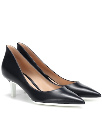 Gianvito Rossi - Alpha 55 leather pumps - mytheresa.com