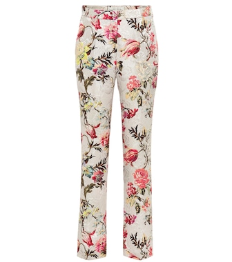 Etro - Floral cotton and silk-blend pants - mytheresa.com