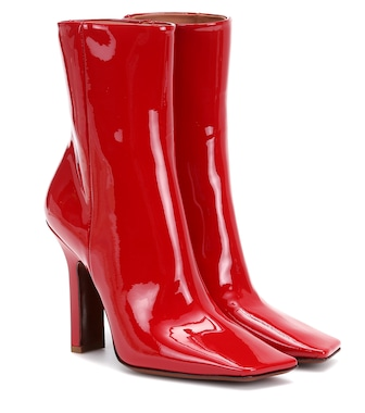 Vetements - Boomerang patent leather ankle boots - mytheresa.com